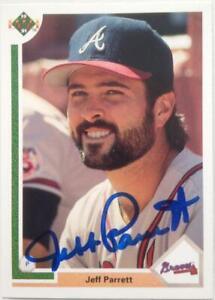 Jeff Parrett Autographed 1991 Upper Deck #417
