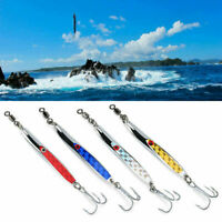 Metal Bass Spoon Fishing Jig Lures Sequins Crank Bait Tackle Treble Hook Baits