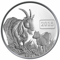 2015 Goat Family 1oz Silver Proof Tokelau Coin