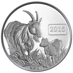 2015 Goat Family 1oz Silver Proof Tokelau Coin