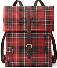 FOSSIL ATLAS TARTAN RED HANDBAG SHOULDER RUCKSACK BACKPACK BAG RRP £130 NEW!!!