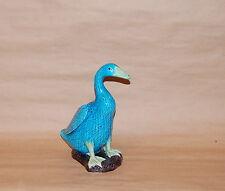 Chinese Export Porcelain Turquoise Glaze Duck Figure Aubergine Base 20th Century