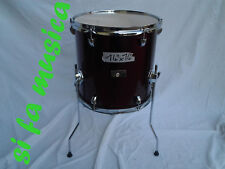 "PREMIER Olympic timpano a terra 14"" x 14"" Stage Wine Red per drum set batterìa"