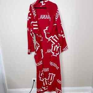 Northwest Indiana University Wearable Blanket Throw Sleeves Red White IU Hoosier