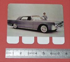 N°47 LINCOLN CONTINENTAL PLAQUE METAL COOP 1964 AUTOMOBILE A TRAVERS AGES