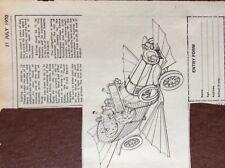 g1q ephemera 1970 thanet advert chitty chitty bang bang birchington form