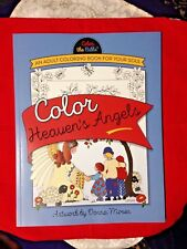 """""""COLOR HEAVEN'S ANGELS  ADULT & CHILDRENS' RELIGIOUS COLORING BOOK  **New**"""