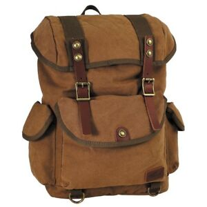 PureTrash® Retro Vintage Outdoor Canvas Backpack Bag 20L - Brown - Brand New