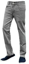 Mens Slim Fit Jeans Stretch Straight Leg Denim Pants Work Casual Trousers