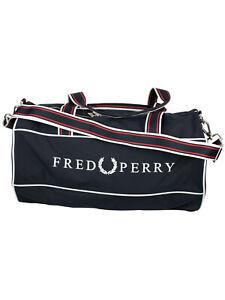 Fred Perry Sporttasche Reisetasche Retro Branded Barrel Bag Tasche Weekender7499