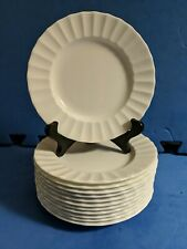 """12 Royal Worcester Warmstry White 6 1/8""""(16cm) Bread and Butter Plates VG+ Shape"""