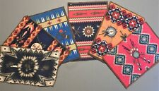 """New listing 6 Old Tobacco Felts 1910's Native American Design 8 x 5.75"""" Flannels Rugs Lot #1"""