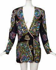 NAAEEM KHAN-1980s Sparkling Beaded Blazer, Size-12