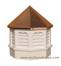White Azek Vinyl Gazebo Cupola with 1-seam copper roof sealed at the peak.
