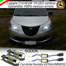 COPPIA LUCI DI POSIZIONE 10 LED LANCIA YPSILON 312 T10 W5W CANBUS ULTRALUMINOSI