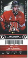 QMJHL Ticket - Quebec Remparts 20th Anniversary SAMUEL GROULX #71