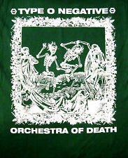 TYPE O NEGATIVE cd lgo 1313 ORCHESTRA OF DEATH Official Green SHIRT XXL 2X oop