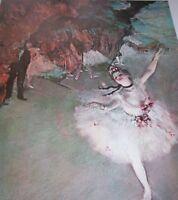 """""""THE STAR DANCER ON STAGE"""" Edgar Degas Ballet Ballerina 1890s Scene Color Print"""