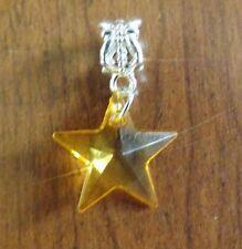 pendentif argenté étoile orange 19x19 mm
