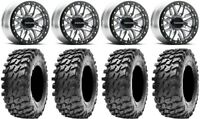 "Raceline Ryno Bdlk 14"" Mh Wheels 30"" Rampage Tires Kawasaki Mule Pro FXT"