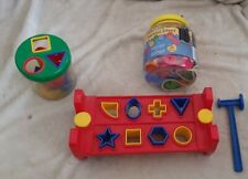 Mixed Toys bundle blocks sorting shapes tactile beads pre school kids learning