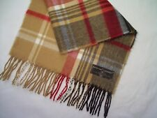 D&Y Multi-Color Softer Than Cashmere Scarf - Beige, Black, Red & White