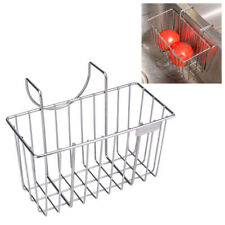 Stainless Steel Sink Drain Basket Sponge Holder Organizer Kitchen Tool