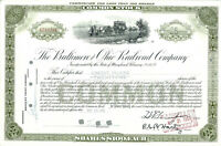 The Baltimore & Ohio Railroad Company 1959 Share Certificate