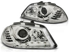LED HEADLIGHTS LPSE27 SEAT IBIZA 6L 2002 2003 2004 2005 2006 2007 2008 CHROME