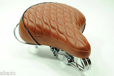 Classic Retro Vintage Replica Bicycle Bike Leather Saddle Seat Brown