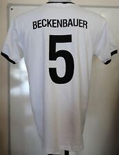 GERMANY RETRO BECKENBAUER 5 S/S FOOTBALL T-SHIRT ADULTS SIZE SMALL BRAND NEW