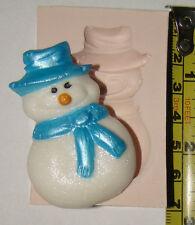 De Silicona Flexible, molde de Navidad de la helada del Muñeco De Nieve Navidad Pastel Cupcake Glaseado Fimo