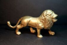 Nice Vintage Brass Figurine of Standing Lion