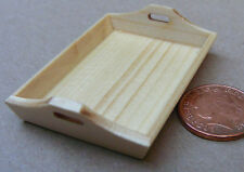 1:12 Scale Single Wooden Tea Tray Dolls House Miniature Kitchen Accessory bk7