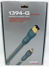 Audioquest 1394-G 4 to 6 Pin 2 meter FireWire i.Link IEEE-1394 cable Braided