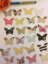 "40x LARGE, VINTAGE STYLE BUTTERFLY CUTOUTS, PAPER PUNCHES, MANY USES, 2"" IN SIZE"