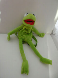 """KERMIT THE FROG 18""""  backpack SESAME ST  - MUPPET SHOW - PLUSH TOY FIGURE"""