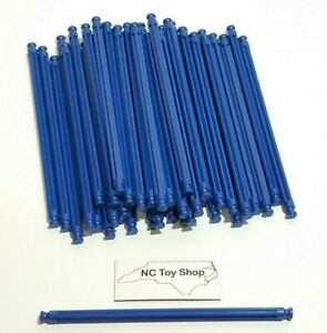 """50 NEW K'NEX Blue Rods 5-1/8"""" (Red Size) Rare Replacement Parts Pieces KNEX"""