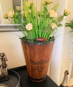Vintage Style Moet & Chandon / Dom Perignon Wooden Champagne Bucket