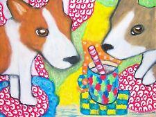 Corgi Drinking Hot Cocoa Pop Art Print 8x10 Corgi Collectible Pembroke Welsh Dog