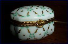 Ancienne Boite à Pilules Coffret Porcelaine de Paris ou Samson Pilulier Bijoux