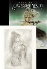 LUIS ROYO SUBVERSIVE BEAUTY DLX ED HC ~ BONUS PRINT ~ Tattoos Piercing ART BOOK