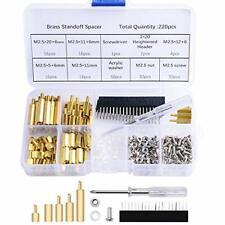 220pcs Standoffs M25 Brass Spacer Hex Column Screw Nut Assortment Kit With Box