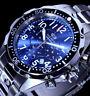 Time Force Herren Armband Uhr Blau Silber Farben 10 Atm TF.2638M/03M / 1
