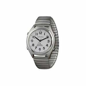 Verbalise Mens Precision Medication Reminder Watch with Silver Expanding Strap
