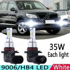 2x White 6000K 9006 70W LED Front Fog Light Upgrade Bulb For 2009-2017 VW Tiguan