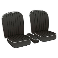 MGA Coupe Seat Cover set Leather Black / White piping Pair 1955-1962 NEW 246-030