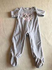 Baby Ragazze Vestiti 9-12 mesi-Carino Gufo Velour Babygrow STORY
