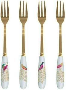 Portmeirion Sara Miller pastry fork set of 4, Chelsea collection