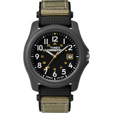 Timex Men's Expedition | Gray Case & Green Strap Black Dial Camper Watch T42571